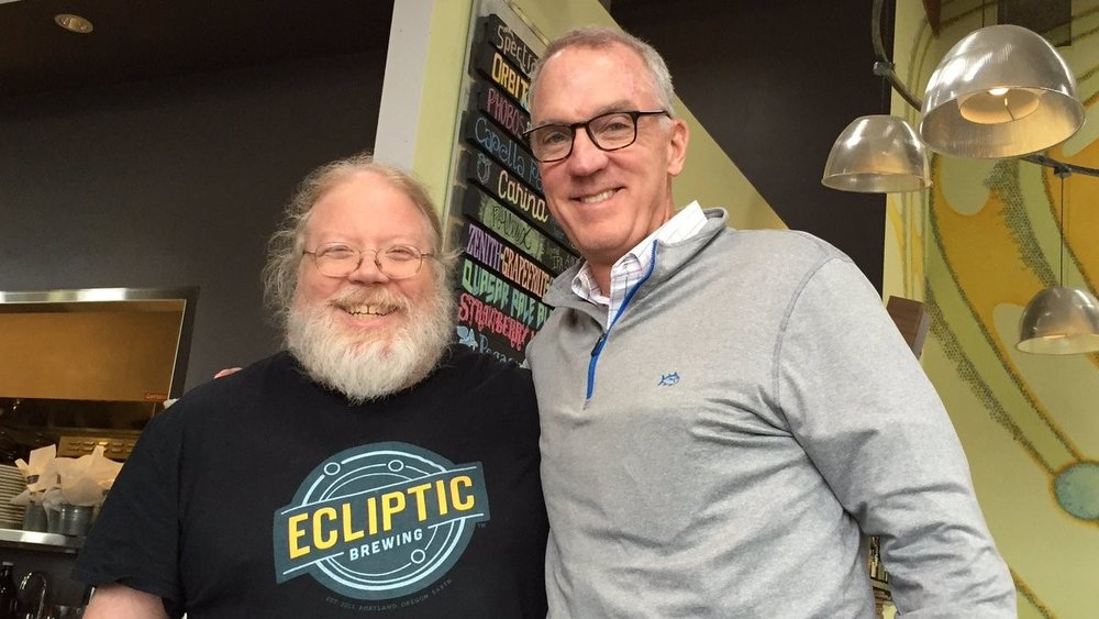 Dan Kenary on the right, with Ecliptic's John Harris.