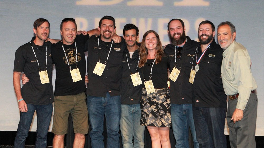 The team from pFriem in 2015; Josh is next to Charlie Papazian (second from right). Source: pFriem Family Brewers