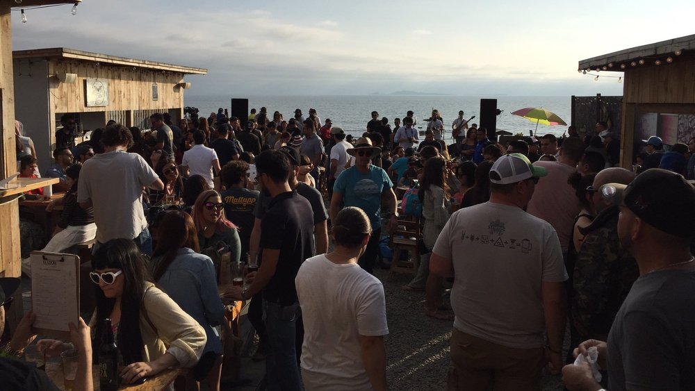 This was one of the best drinking experiences of my life. Live Mexican bands playing at the edge of the ocean in a pub where eight or ten local breweries all poured their beer.