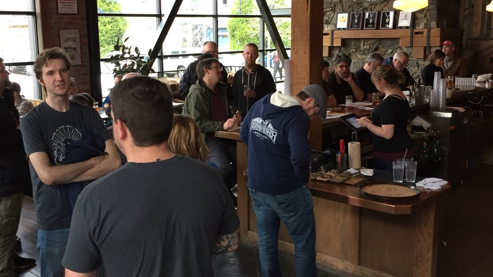 When the brewing community learned that Old Town Brewing was in a battle over their trademark with the City of Portland, they hosted a rally in support of the brewery.