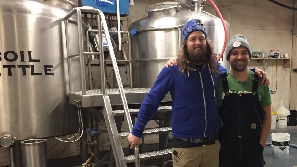 Steve Luke and Zach Kornfeld of Seattle's Cloudburst Brewery.
