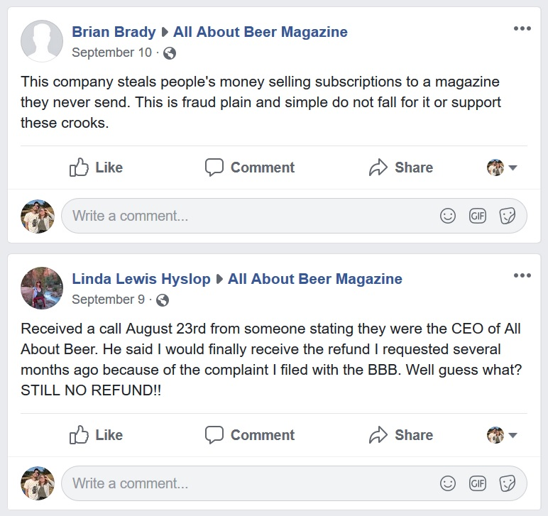 Unhappy subscribers sound off on the  AAB Facebook page .