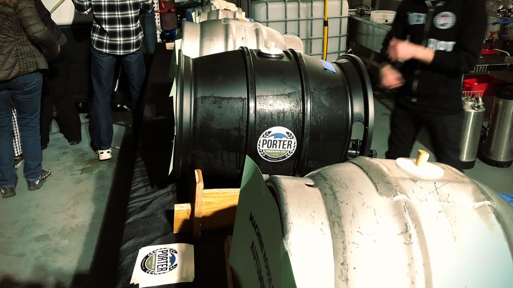 Cask ale at the cider and ale fest at Cider Riot in November.