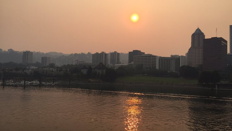 Forest fire smoke capped a long, long scorching summer in Portland.