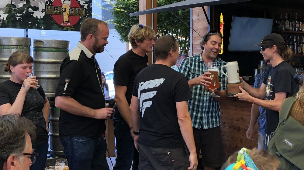 Jake Harper and the Deschutes crew celebrate their unexpected triumph.