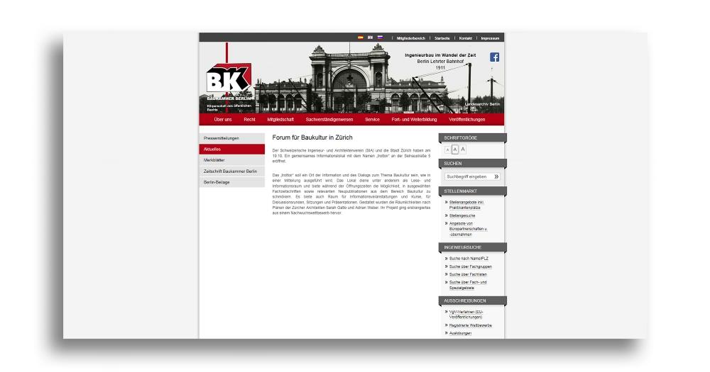 BAUKAMMER BERLIN I 09