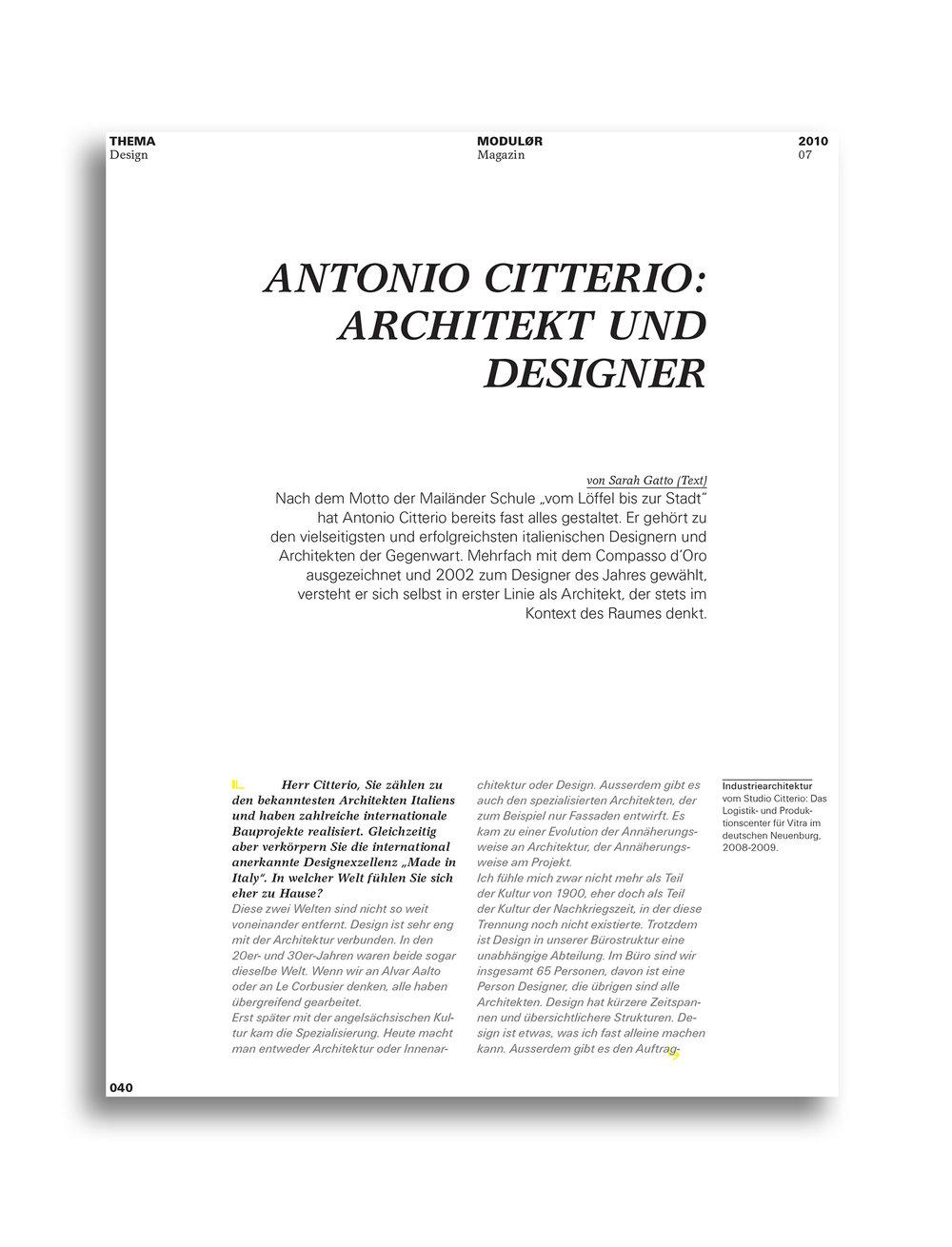 MODULOR 0710 I Architekt und Designer