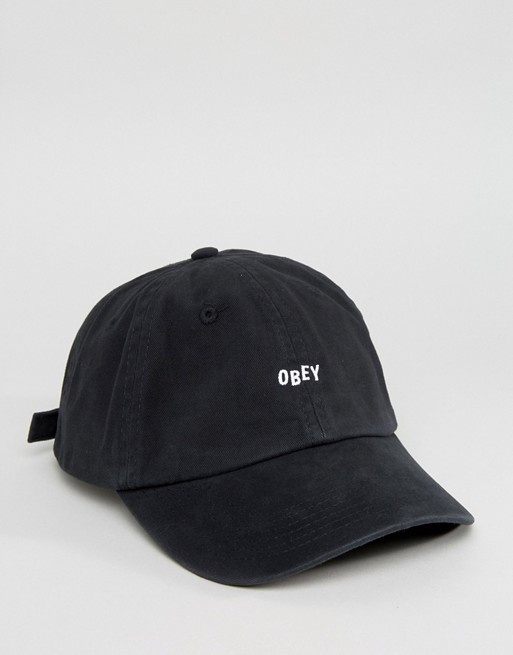 Obey Small Logo 6 Panel Cap  €40.00