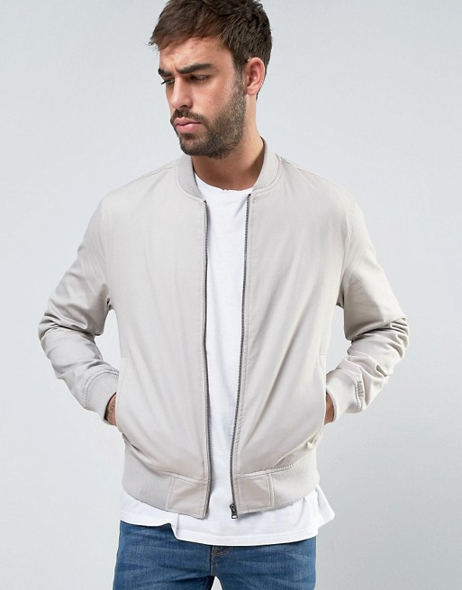 Cotton Bomber In Stone  €33.00