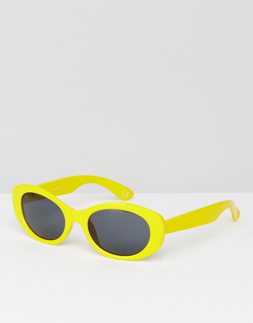 Oval Sunglasses In Yellow €10.00