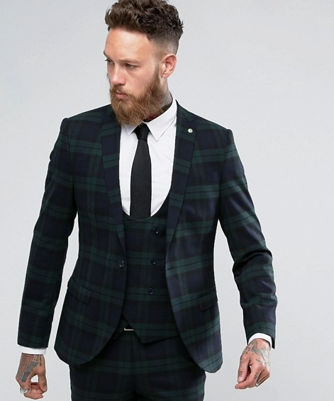 Checkered Slim Fit Suit € 280.00