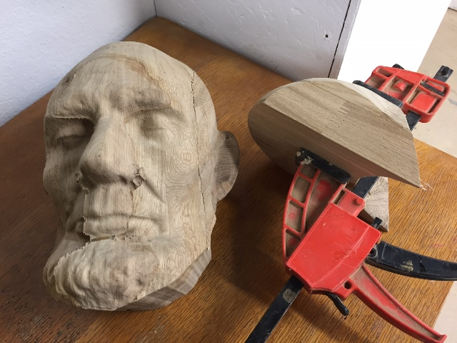 Abraham Lincoln's Death Mask - a work in progress.