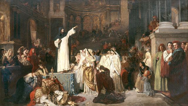 Savonarola Preaching Against Prodigality - Ludwig von Langenmantel