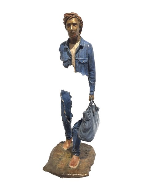 Bruno CATALANO  Lino  55 x 18 x 20 cm   Bronze