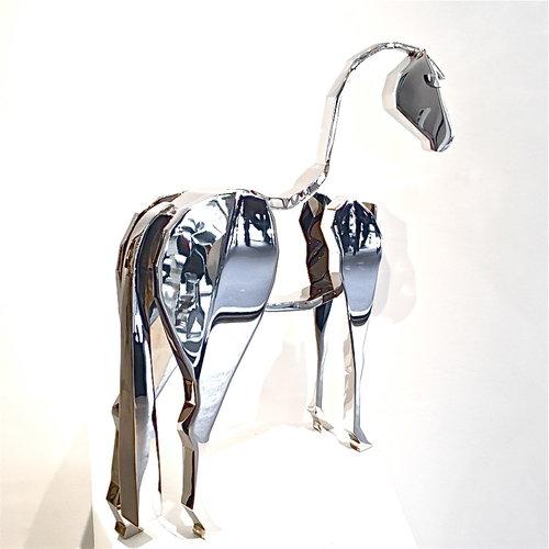 Bart SOMERS | Horse| 52 x 10 x 36 cm | Acier inoxydable