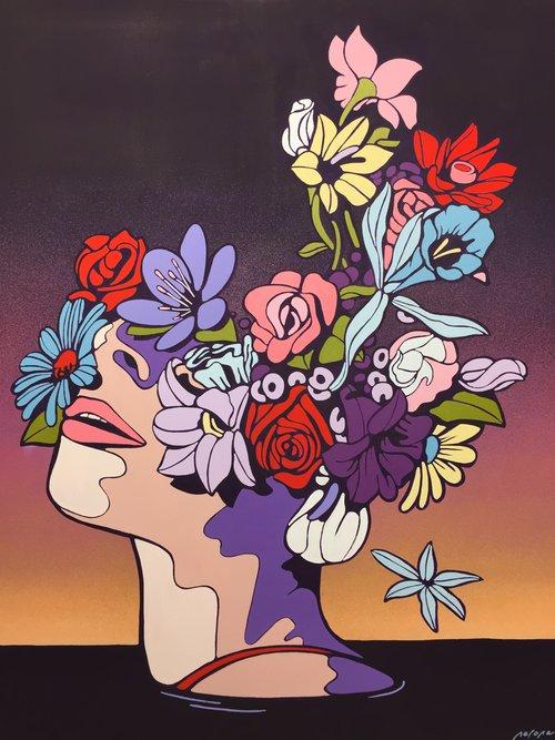 NERONE |About you I | 100 x 80 cm | Peinture acrylique