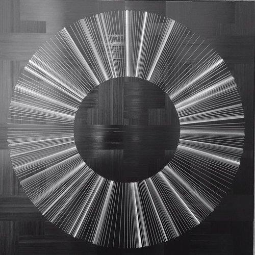 André NADAL |Black & White| 120 x 120 cm | Huile sur toile
