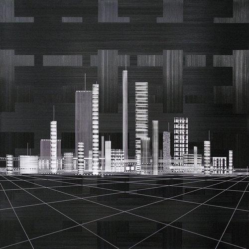 André NADAL |Black & White |80 x 80 cm | Huile sur toile