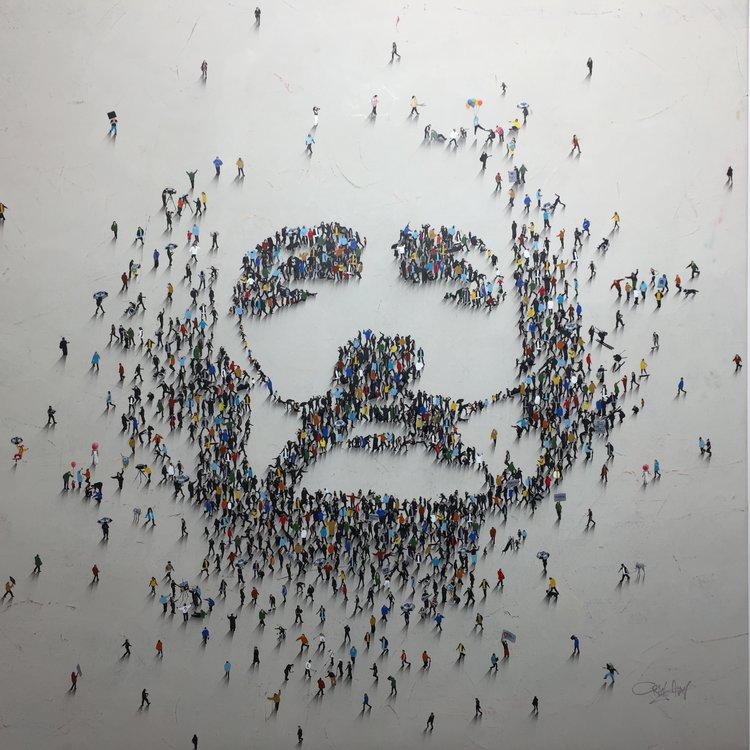 Craig ALAN  Dali   116 x 116 cm  Technique mixte