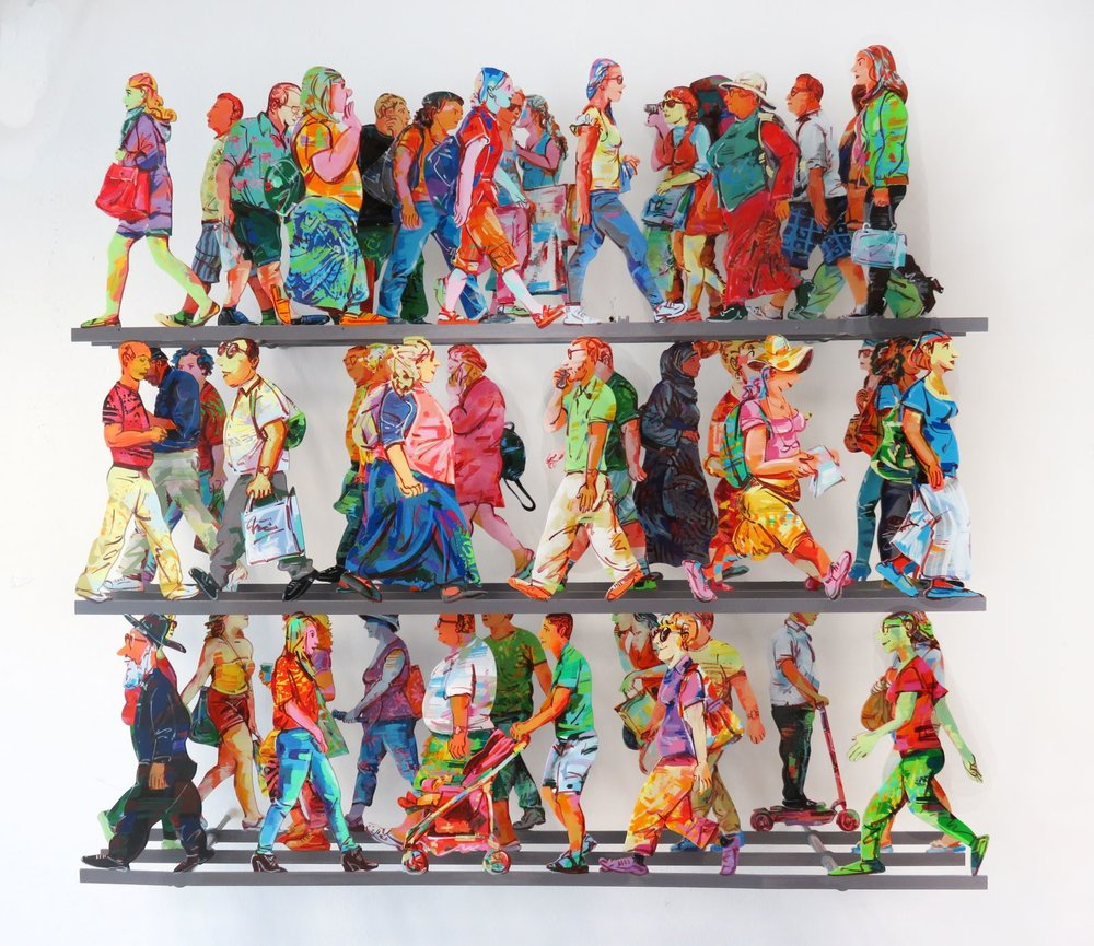 "David Gerstein's ""Fifth Avenue"" wall sculpture"