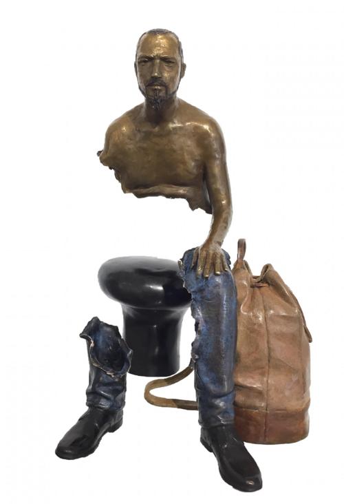 Bruno CATALANO  Raphaël 41 x 27.5 x 25.5 cm  Bronze