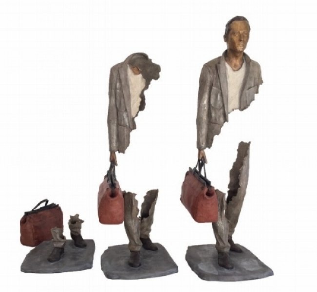 Bruno CATALANO  Fragments   100 x 115 x 42 cm  Bronze