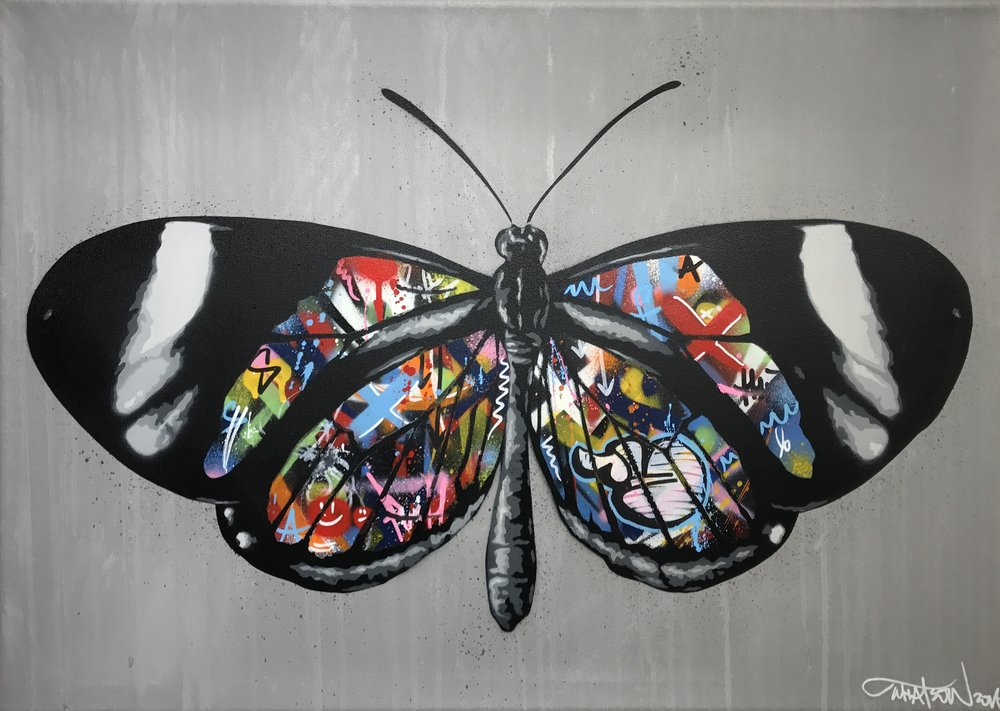 Martin WHATSON | Butterfly | 50 x 70 cm | Oil on canvas ©Modus Gallery