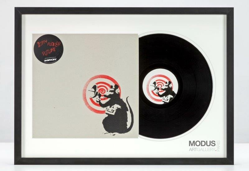 BANKSY | Dirty Funker - Future (Radar Rat) Red edition on white