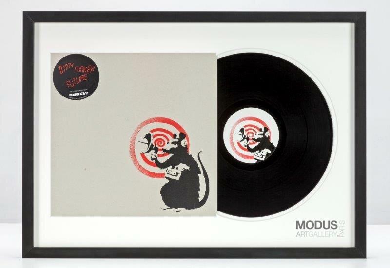BANKSY   Dirty Funker - Future (Radar Rat) Red edition on white