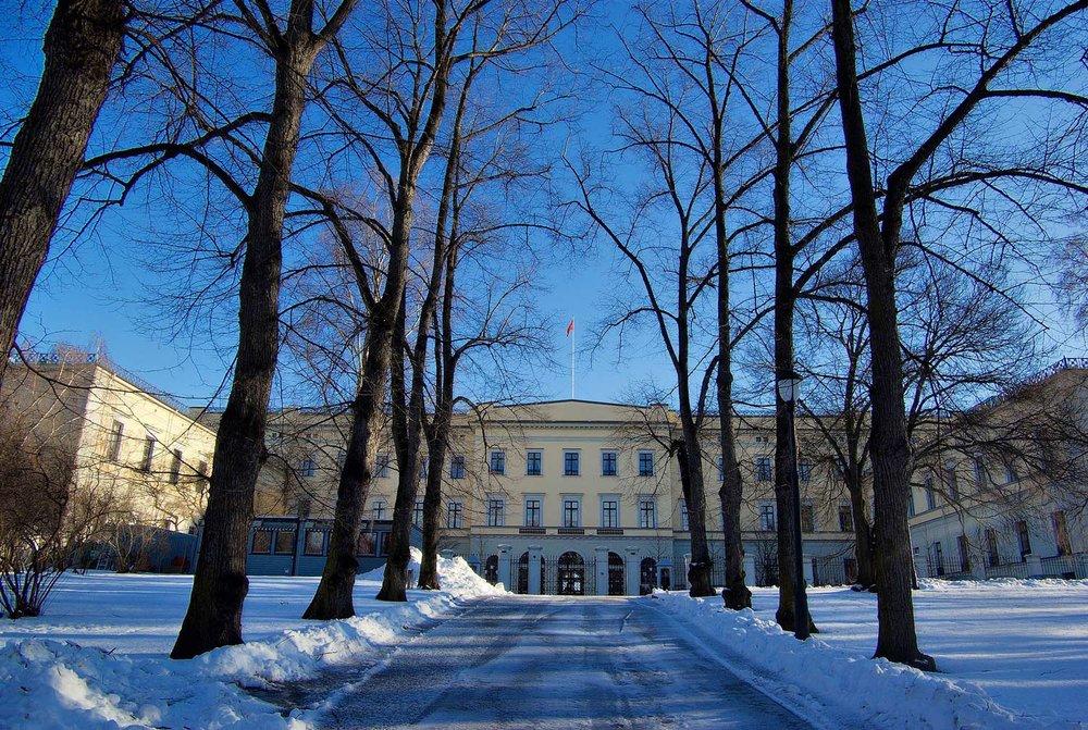 Slottet sett fra baksiden Foto: Bjørn Erik Pedersen
