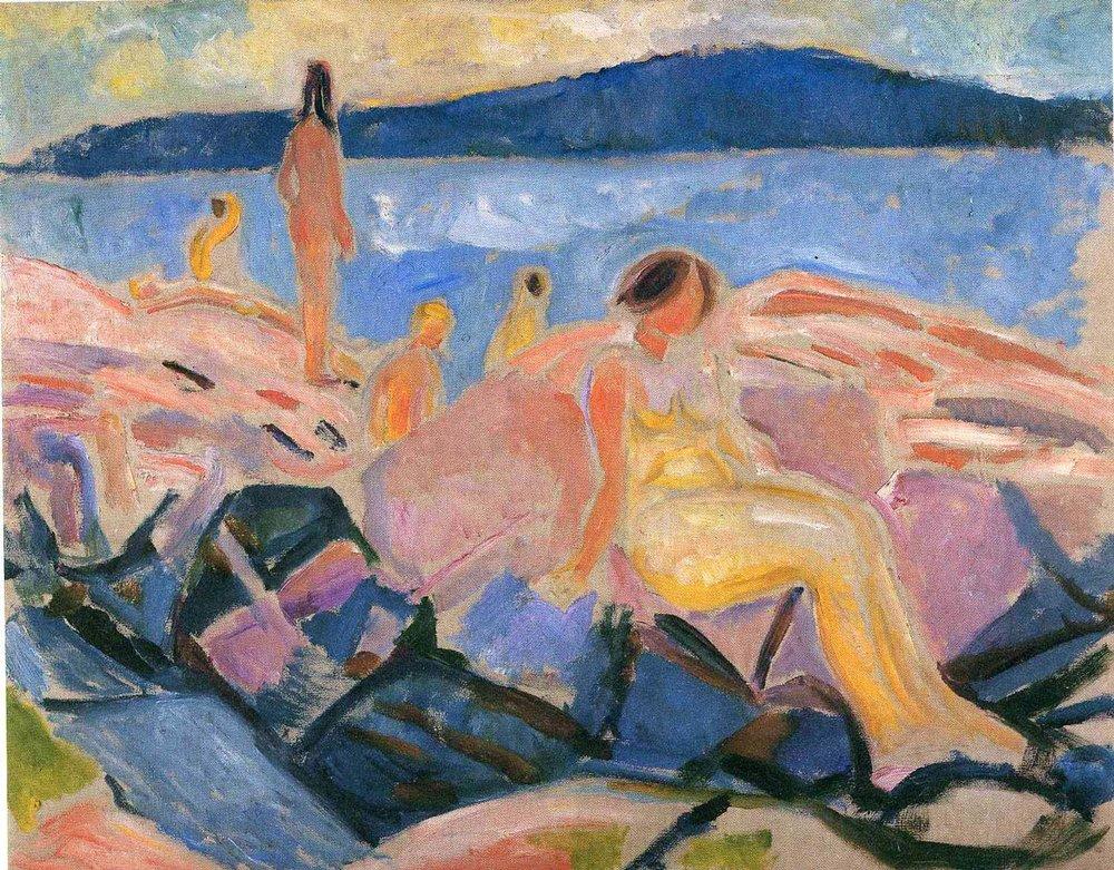 Høysommer II (1915) - Edvard Munch. Wikiart.