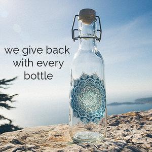 Love Bottle Beautiful Reusable Glass Water Bottles