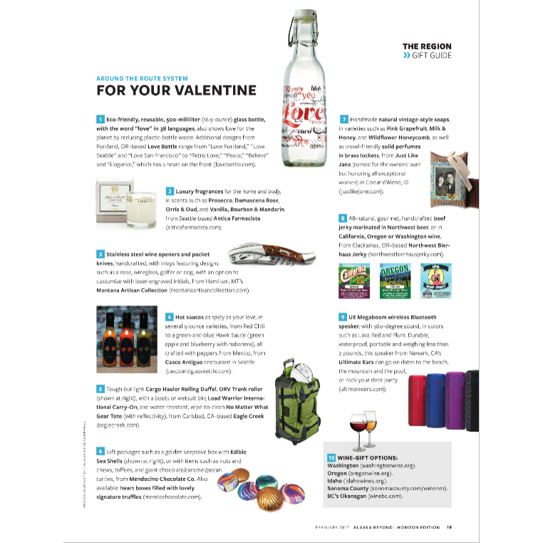 Alaska Airlines In Flight Magazine