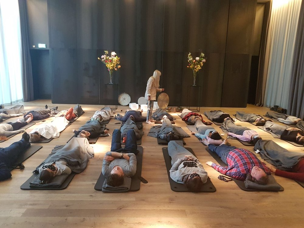 Conservatorium Hotel for Stadswild's Secret Yoga Club during Hotel Nacht (Photo: Sabine Henzing)