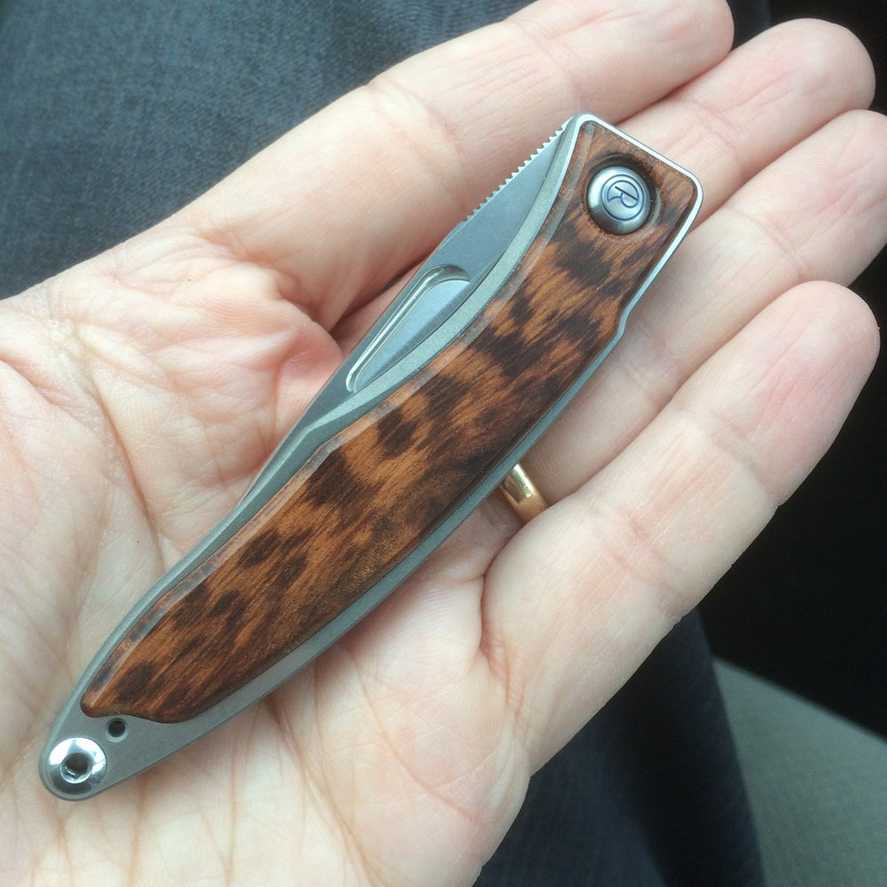 This is a Chris Reeve Mnandi I used to own in Snakewood.