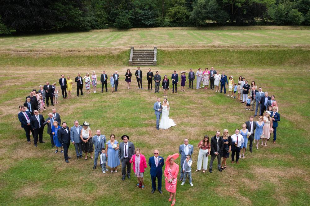 wedding group heart