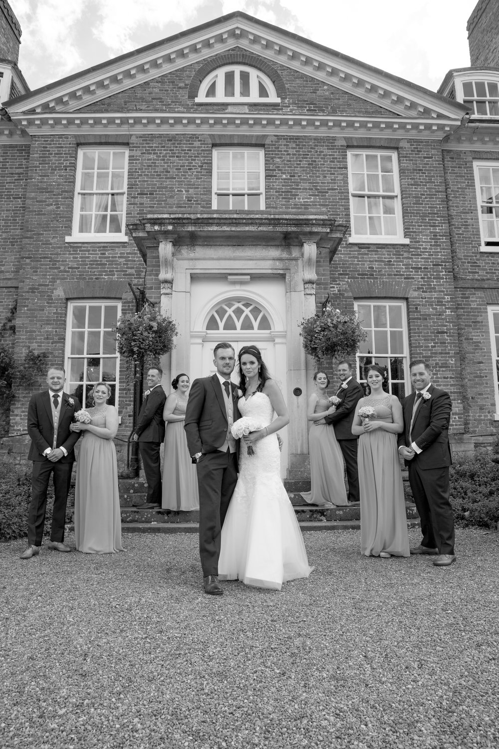 groomsmen and bridesmaids chilston park