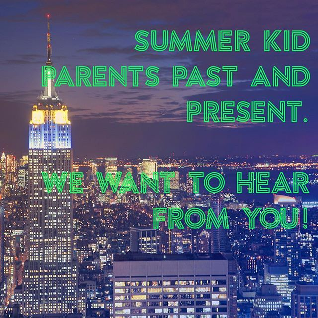 We will be responding to your inquiries about our upcoming informational program about Summer Modeling soon but first we are searching for parents of summer kids who have spent time in NYC. We would love to hear about your experience, please DM us.  #childmodels #summerkids #kidmodels #momagers