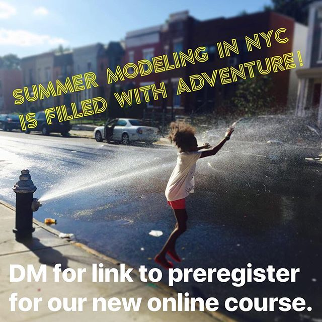 Send us a DM if you want info on preregistering for our upcoming online course  about summer modeling in NYC. If you register by Monday the 19th at noon you get a special bonus offer. Have a great weekend! 📸 @theoriginalmadij