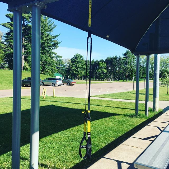 Gym for the day. Sneaking in a little TRX on a holiday weekend!  What's your holiday weekend workout strategy? #trx #personaltrainer #workout