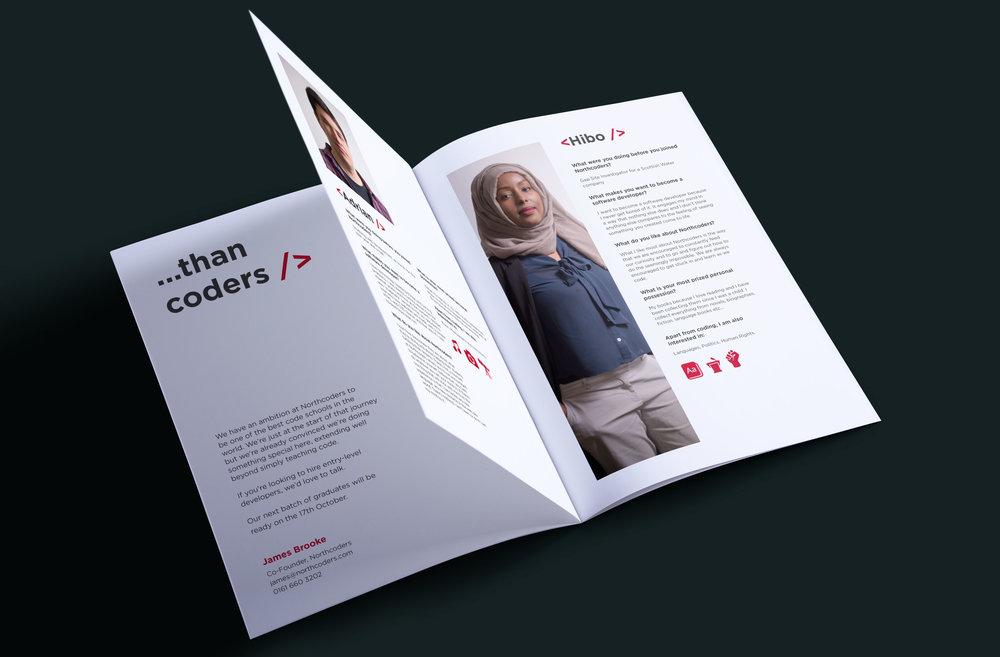 northcoders brochure stop design newcastle