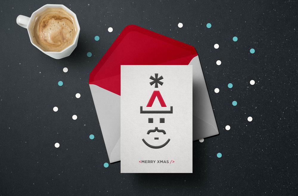 northcoders christmas card stop design newcastle