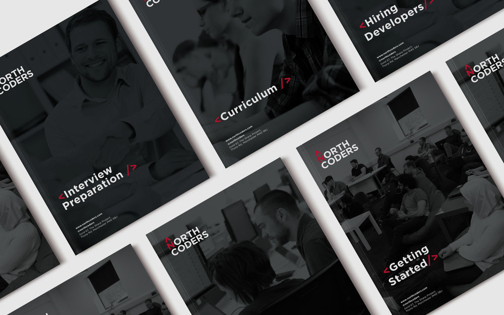 northcoders brochures stop graphic design newcastle