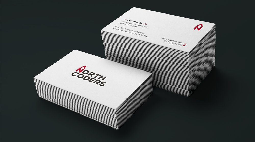 northcoders branding business cards stop design newcastle