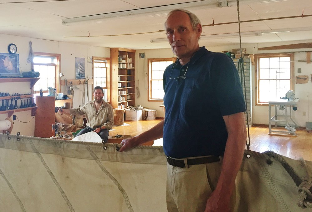 Sailmaker Nat Wilson at Home in his Shop