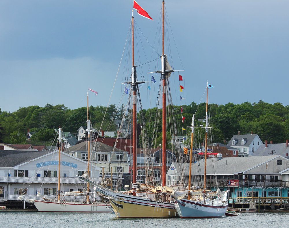 Schooners Eastwind, Heritage, and Ardelle Waiting for Fireworks