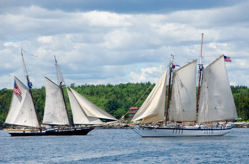 The Privateer Lynx and Schooner Harvey Gamage