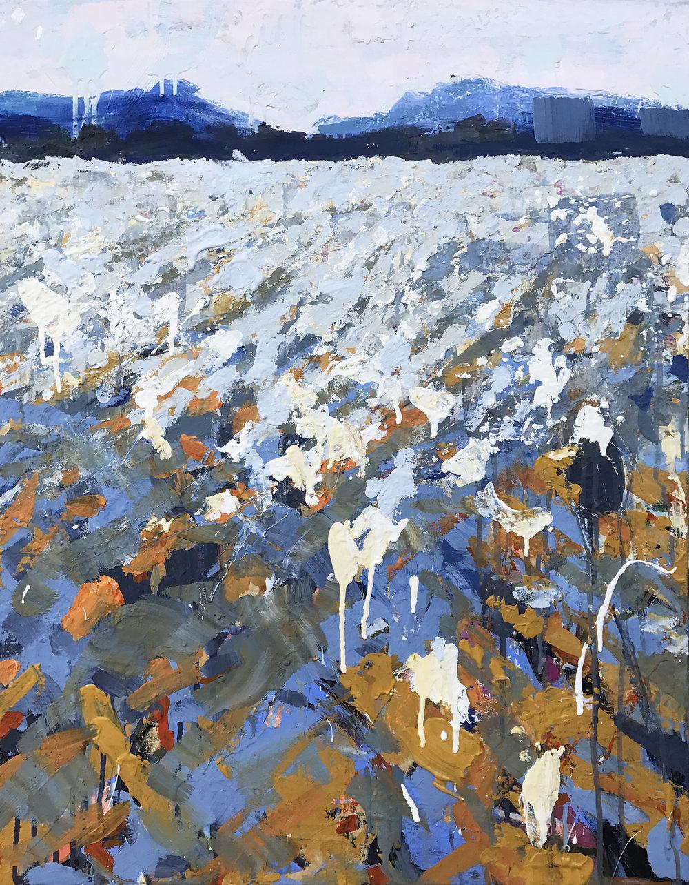 """The Field by Sally Veach, Acrylic on Canvas, 22"""" X 28"""""""
