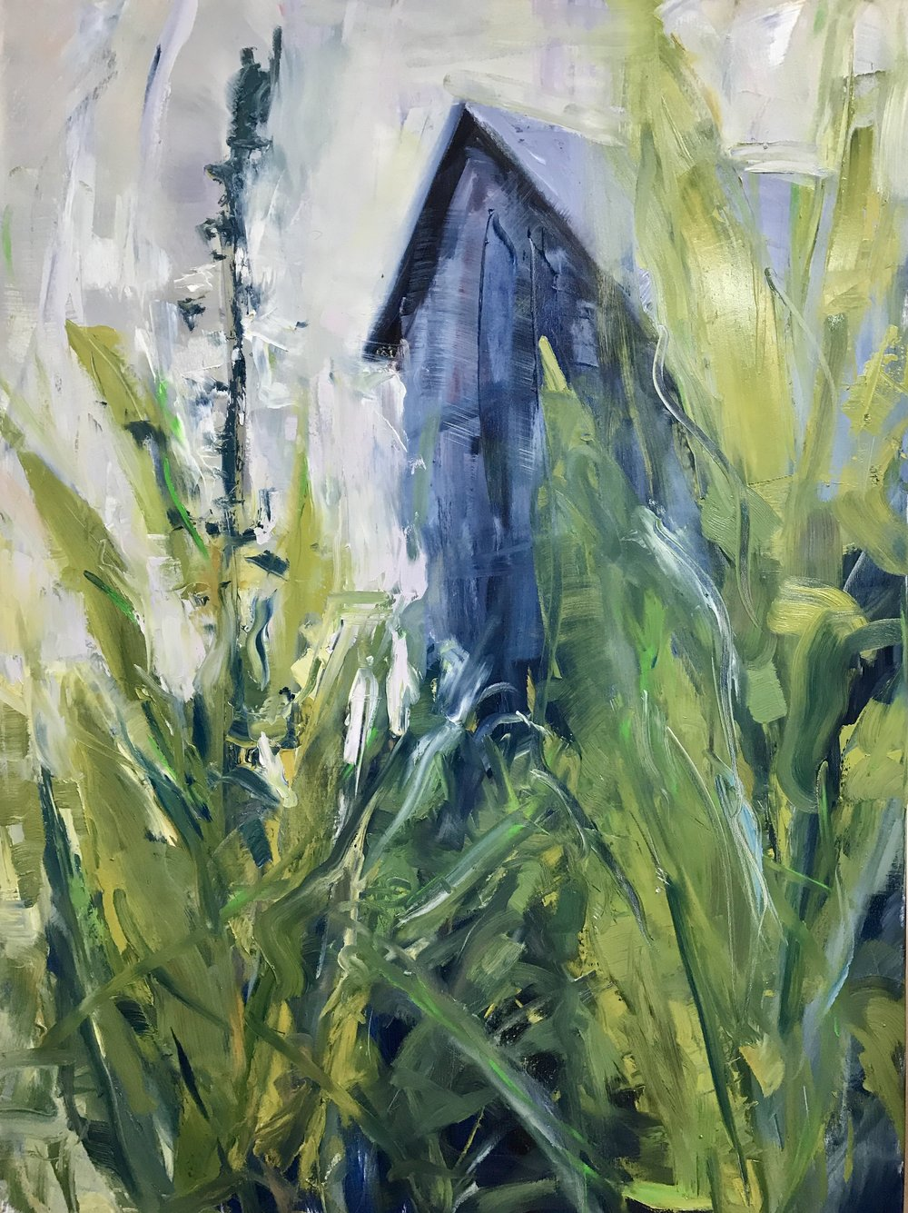"Return to Nature   by Sally Veach, Oil on Canvas, 48"" X 36"""