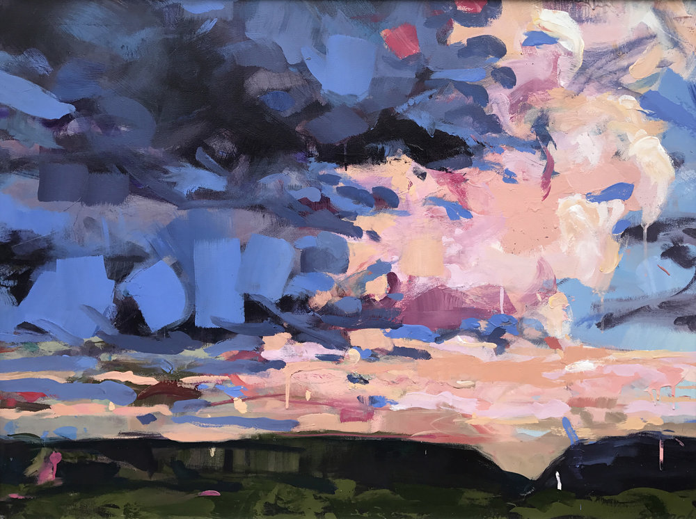 "Cloud Five by Sally Veach, Acrylic on Canvas, 30"" X 40"""